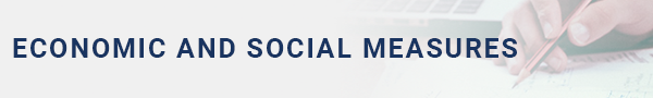 Economic and social measures banner